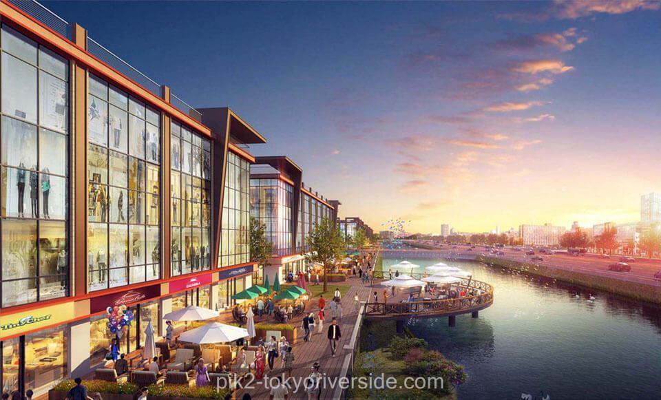 osaka riverview apartemen pik2 lake view